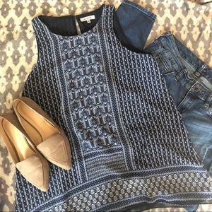 EUC⭐️ Max Studio Blue Multi patterned Blouse